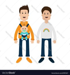 gay family two fathers with baby boy son in baby vector image jpg 1000x1080 gay clipart [ 1000 x 1080 Pixel ]