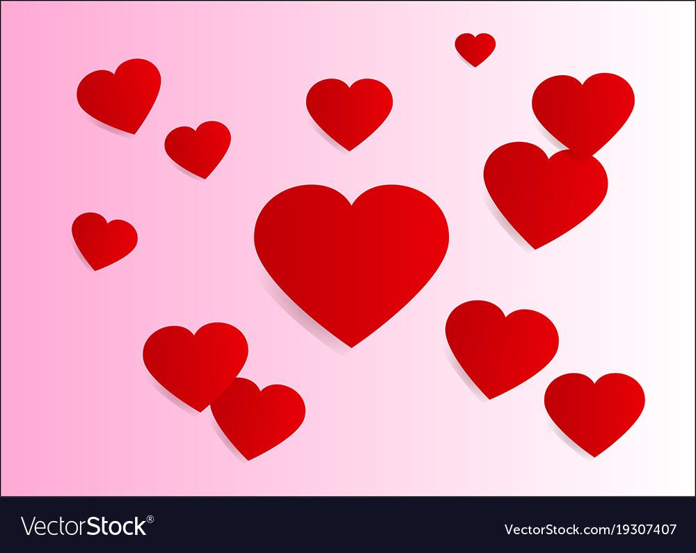 lovely heart valentine background