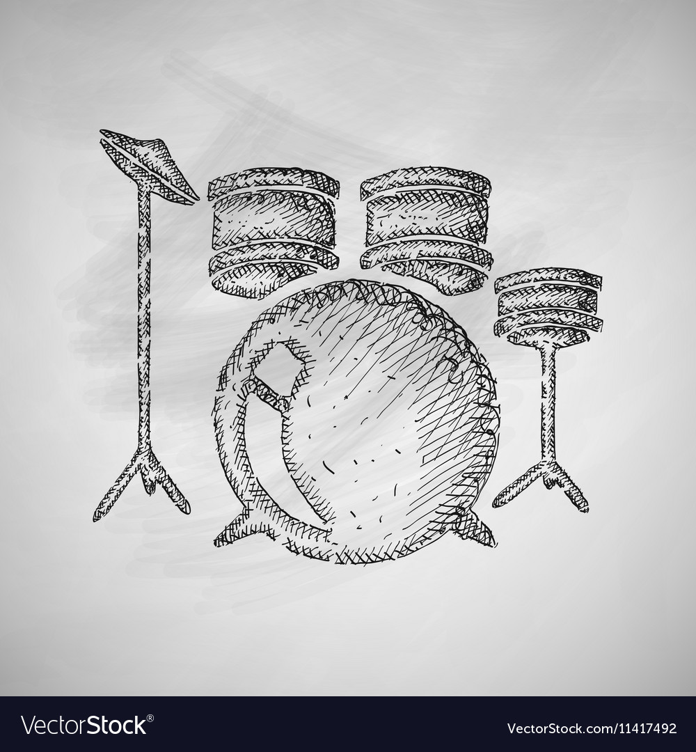 hight resolution of drum set icon
