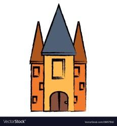 Medieval castle design Royalty Free Vector Image