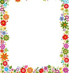 floral border frame background vector image [ 851 x 1080 Pixel ]