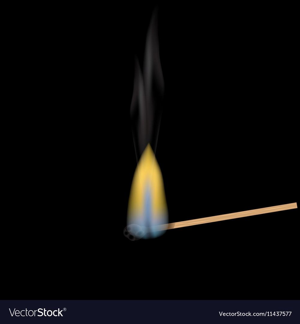 realistic burning match match