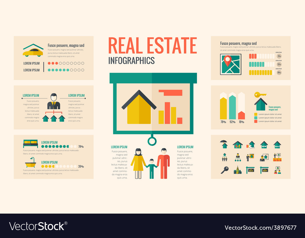 real estate infographic elements