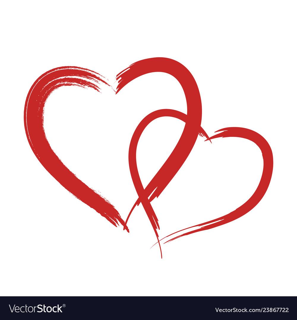Download Heart shape design for love symbols Royalty Free Vector