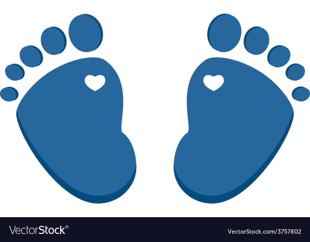 blue baby footprint royalty