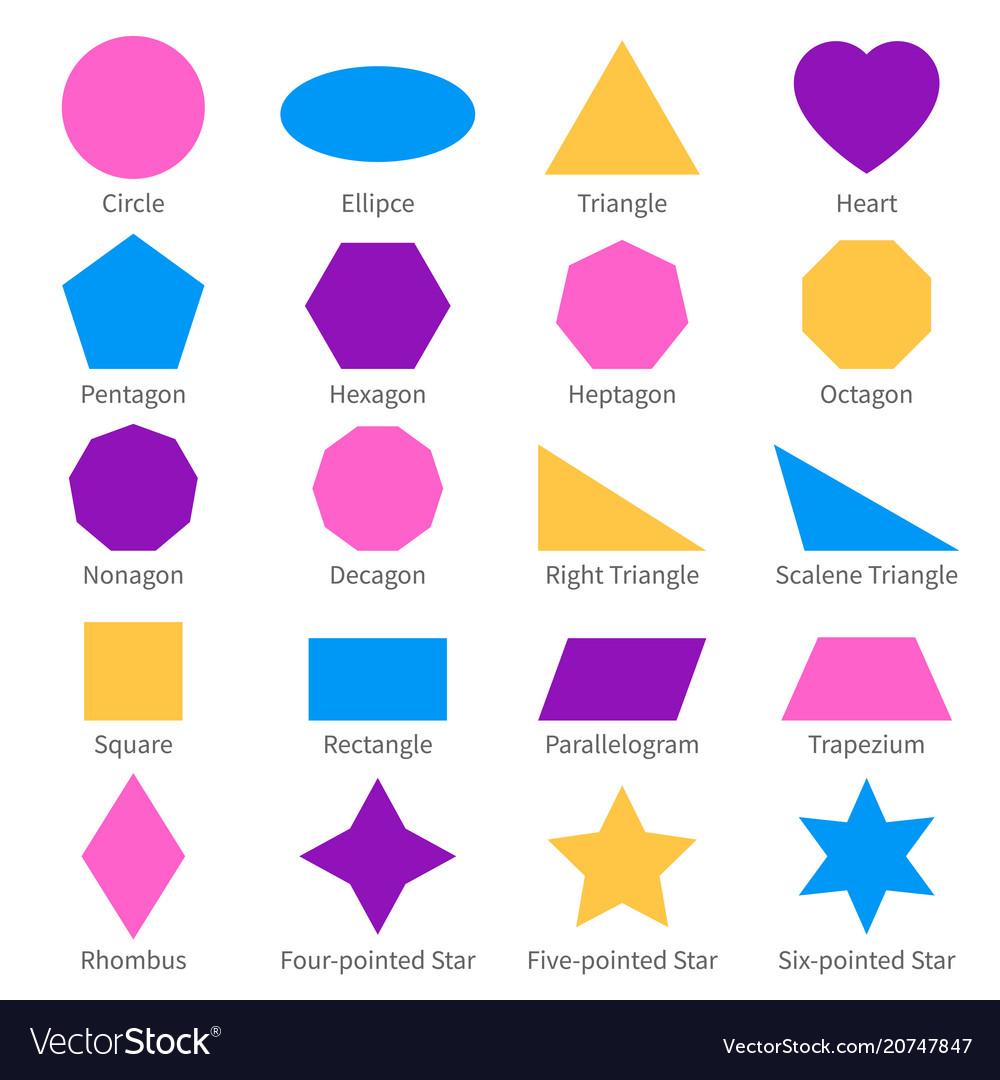 simple geometric 2d shapes