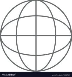 earth globe diagram icon vector image [ 1000 x 1080 Pixel ]