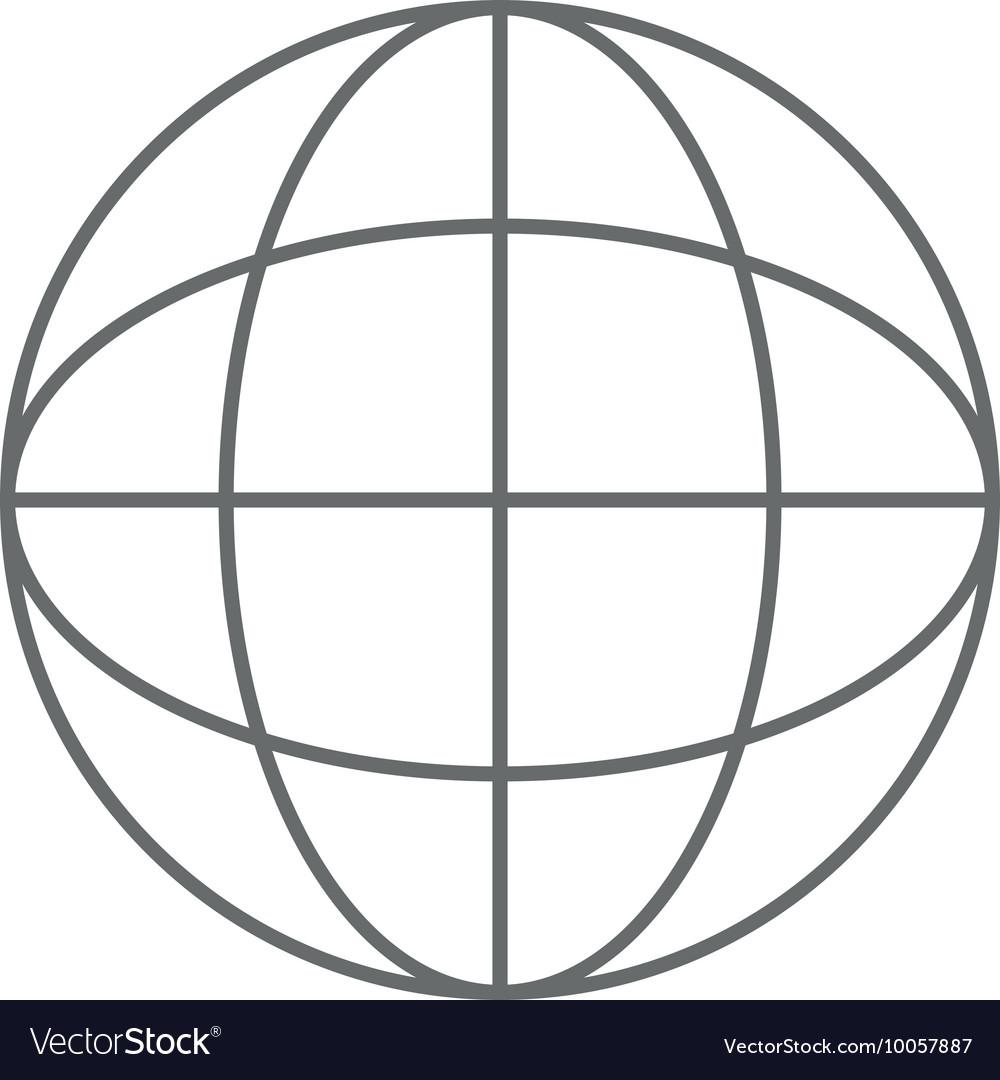 medium resolution of earth globe diagram icon vector image