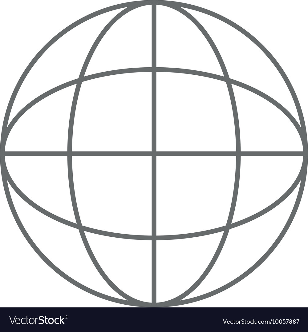 hight resolution of earth globe diagram icon vector image