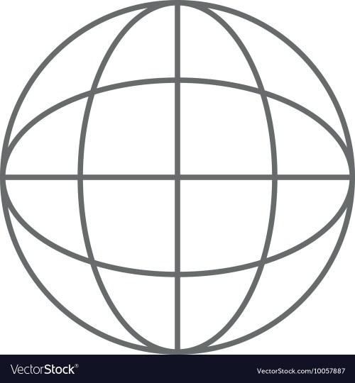 small resolution of earth globe diagram icon vector image