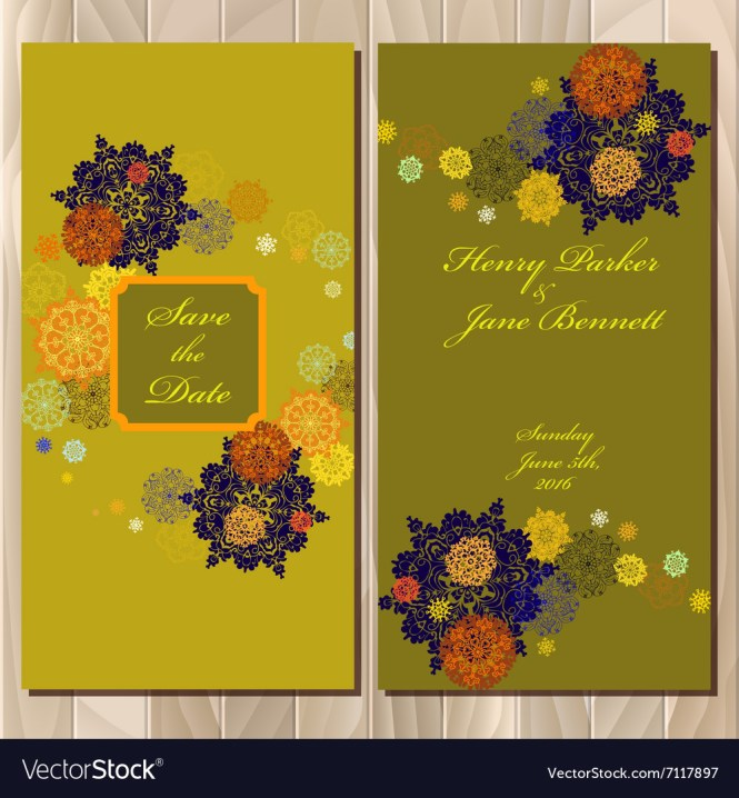 Design Wedding Invitation Card Vector Image