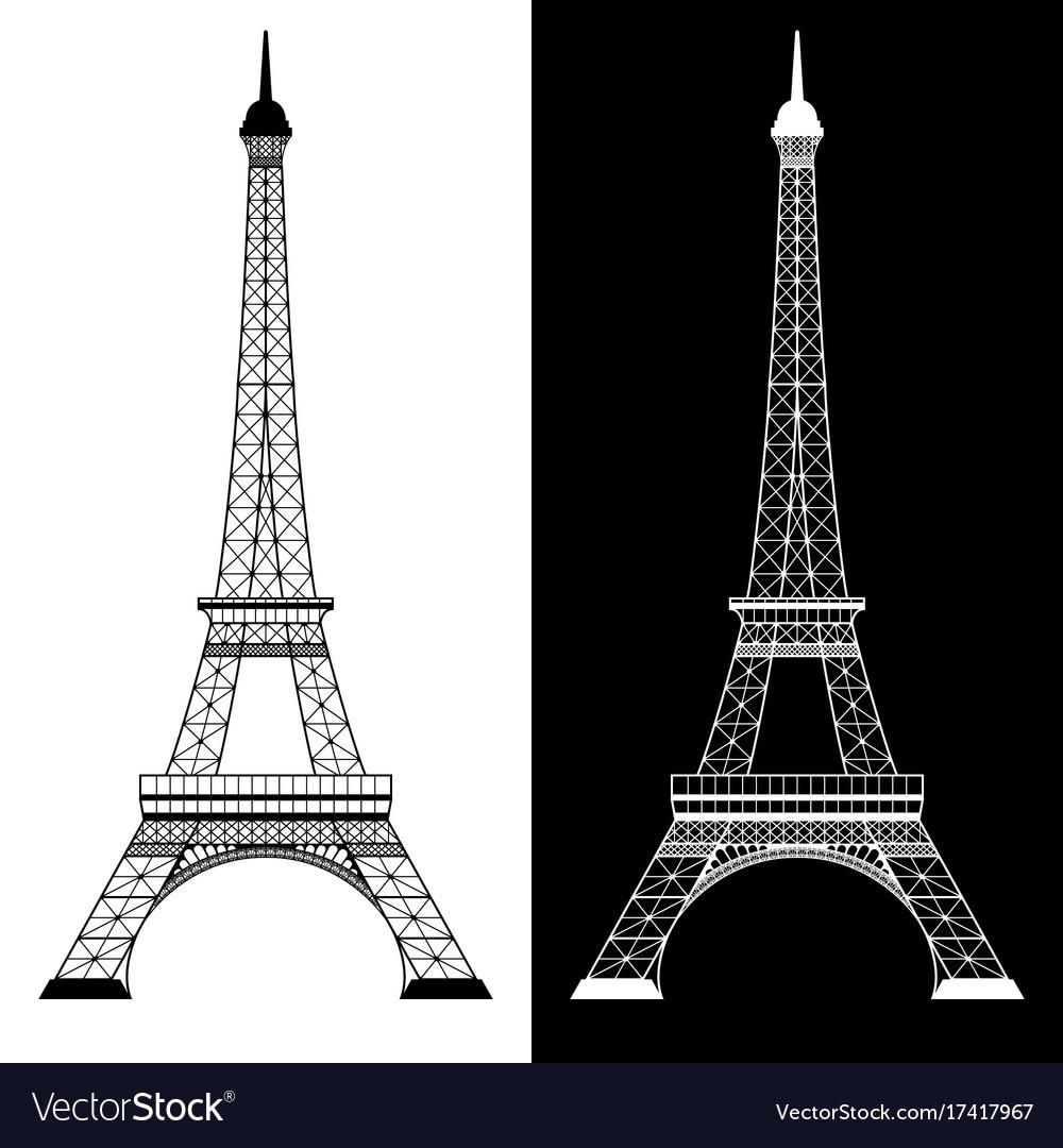 eiffel tower on white