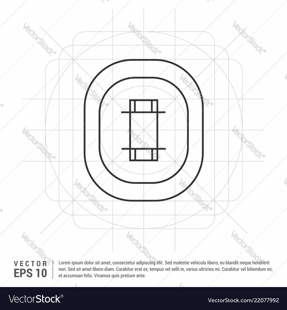 hight resolution of cricket stadium icon vector image