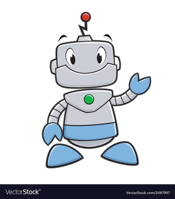 Cartoon Robot Royalty Free Vector - Vectorstock