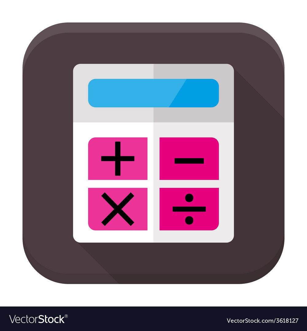 calculator flat app icon