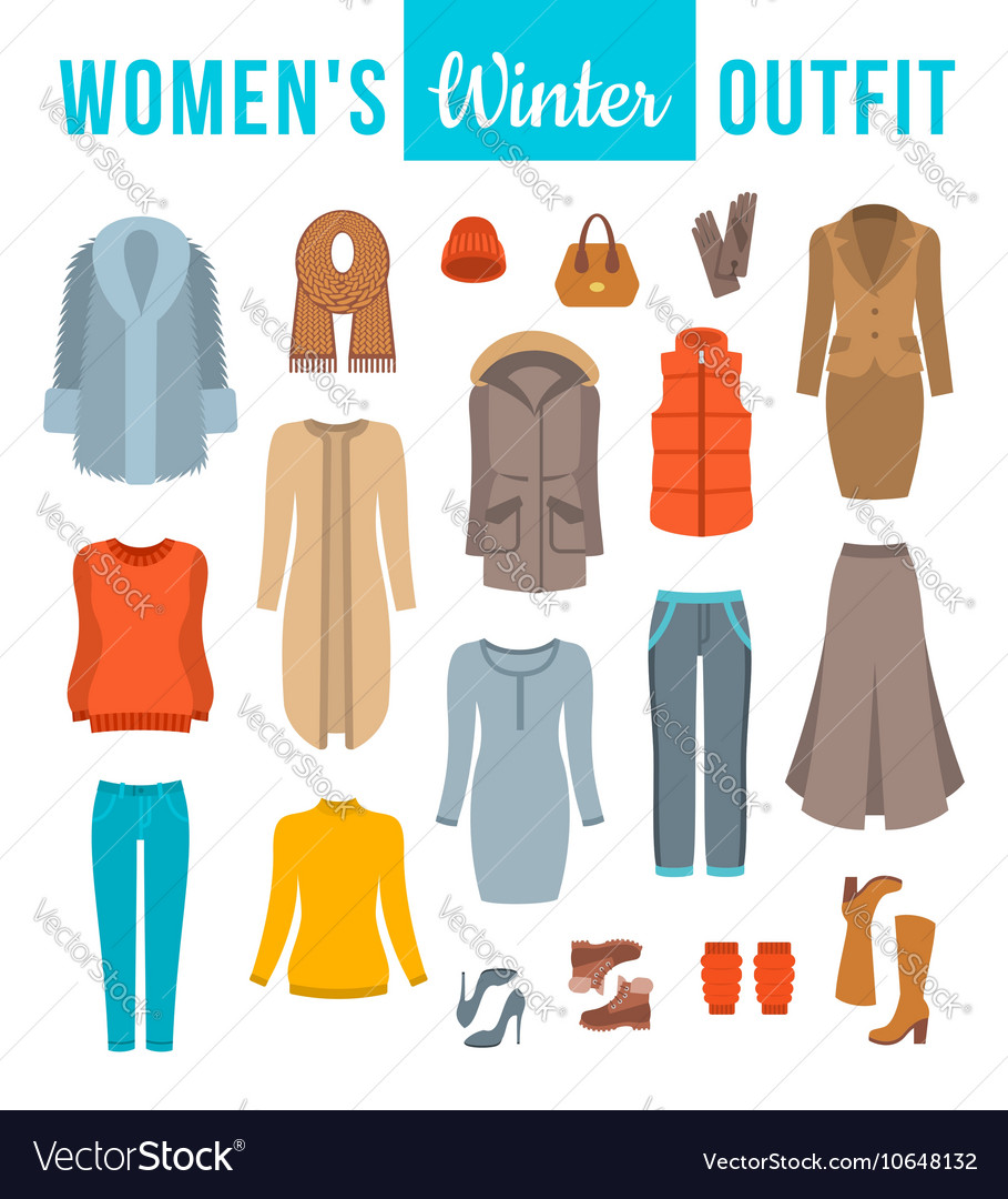 women winter clothes flat