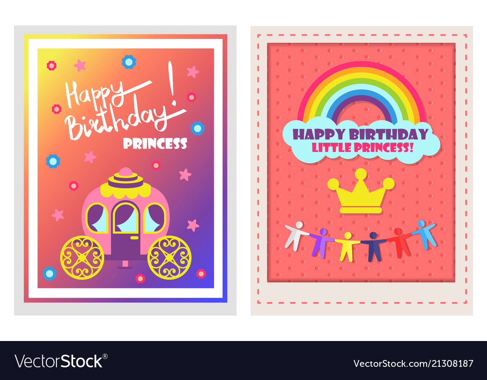 happy birthday posters set