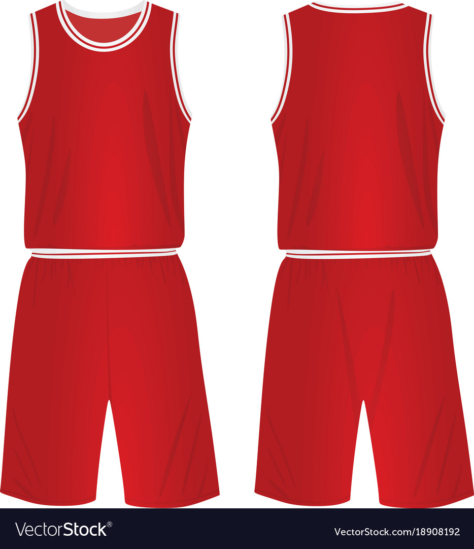 Download Red basketball uniform Royalty Free Vector Image