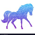 Wild Horse Stencil Vector Images 59