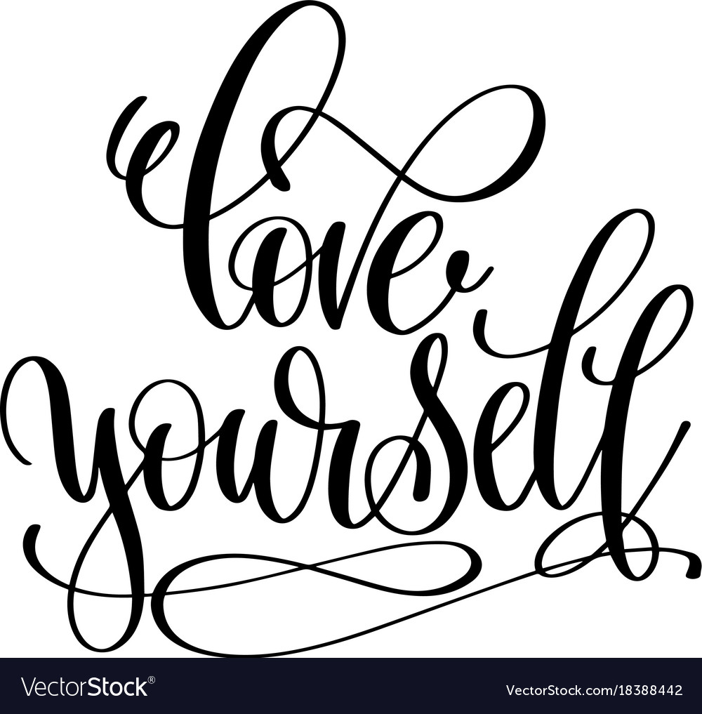 Download Love yourself hand lettering inscription Vector Image