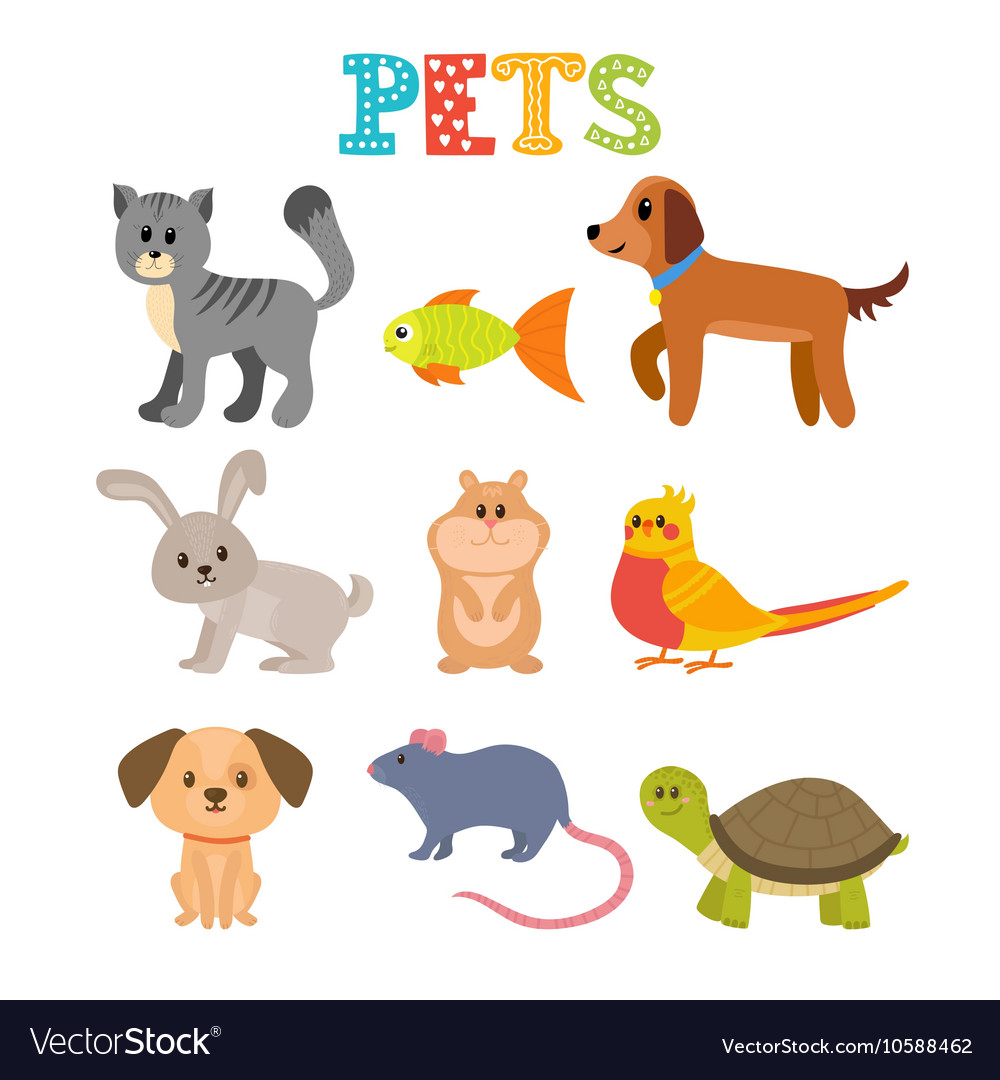 set of pets cute