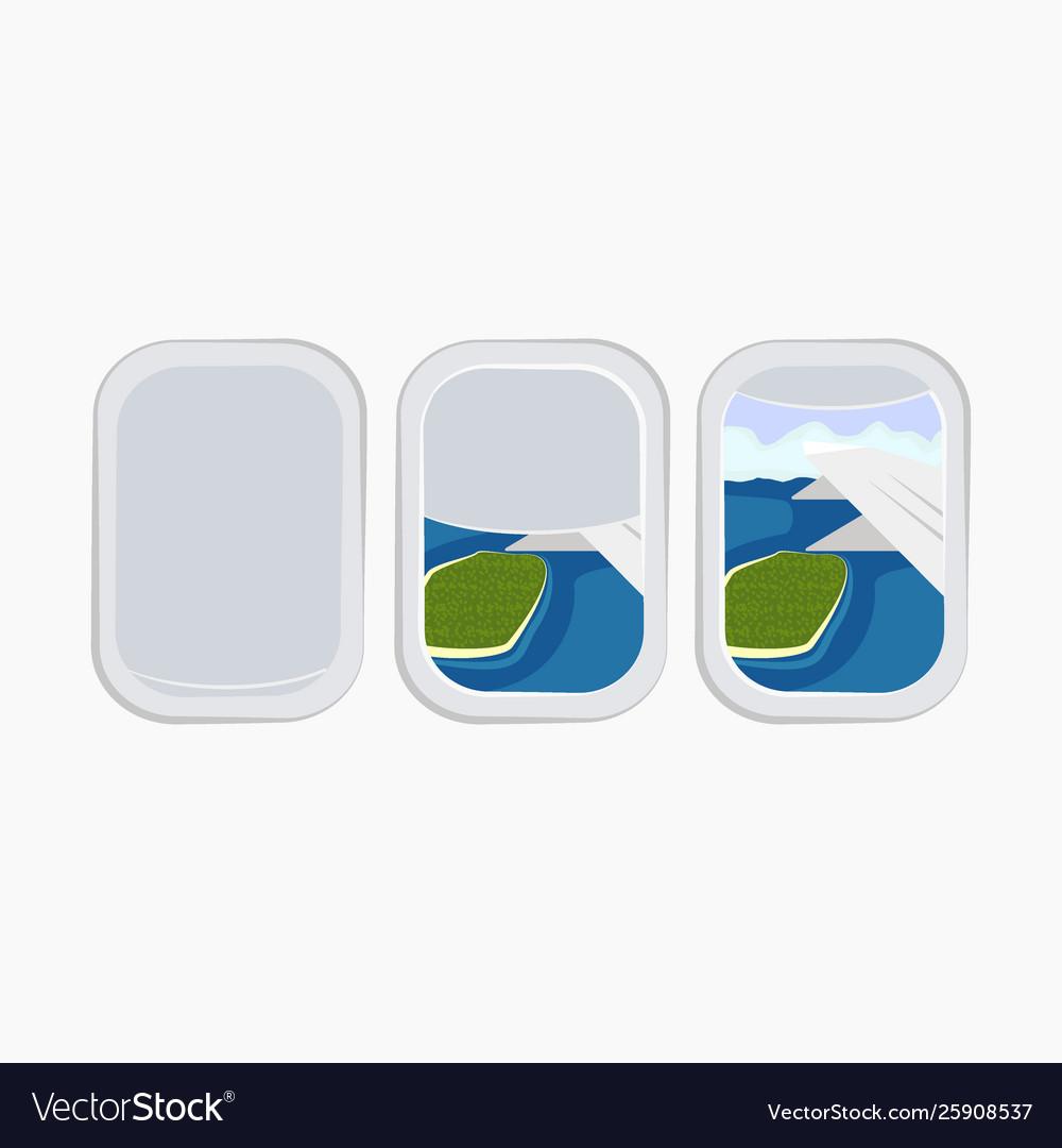 airplane window porthole stock