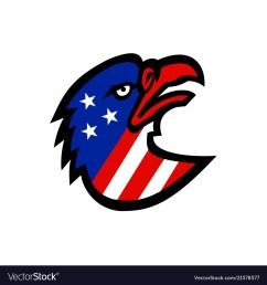 american flag inside eagle mascot vector image [ 1000 x 1080 Pixel ]