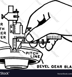 vernier caliper vintage engraving vector image [ 1000 x 807 Pixel ]