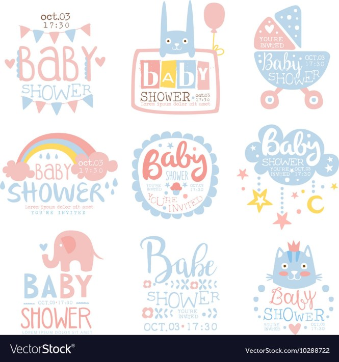 Baby Shower Invitation Template In