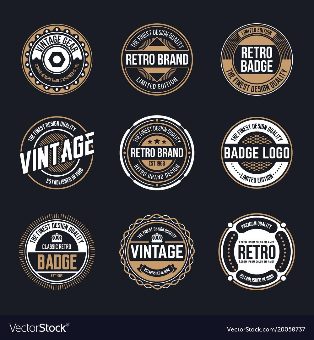 circle vintage and retro