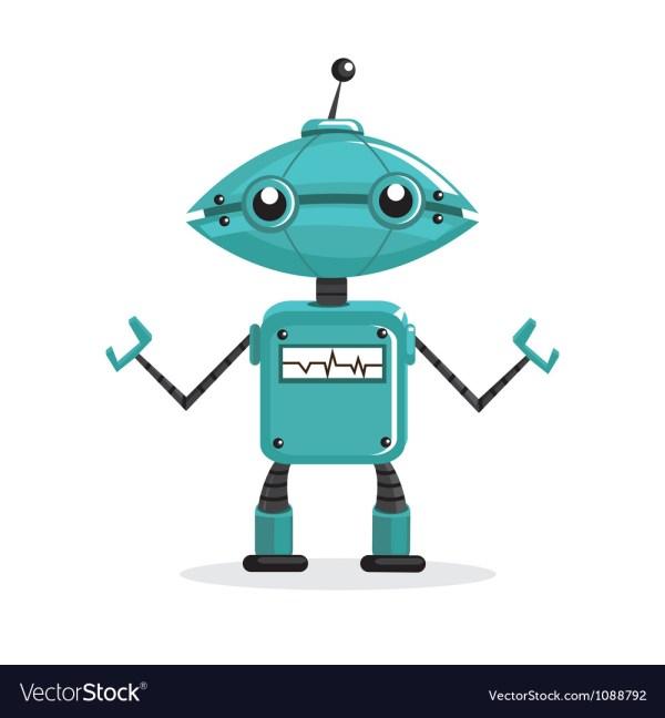 Cute Cartoon Robots Royalty Free Vector - Vectorstock