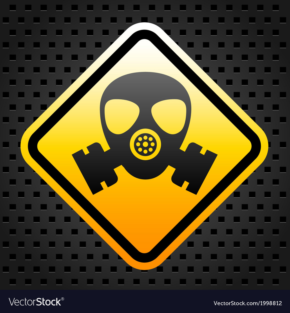 warning sign with gas