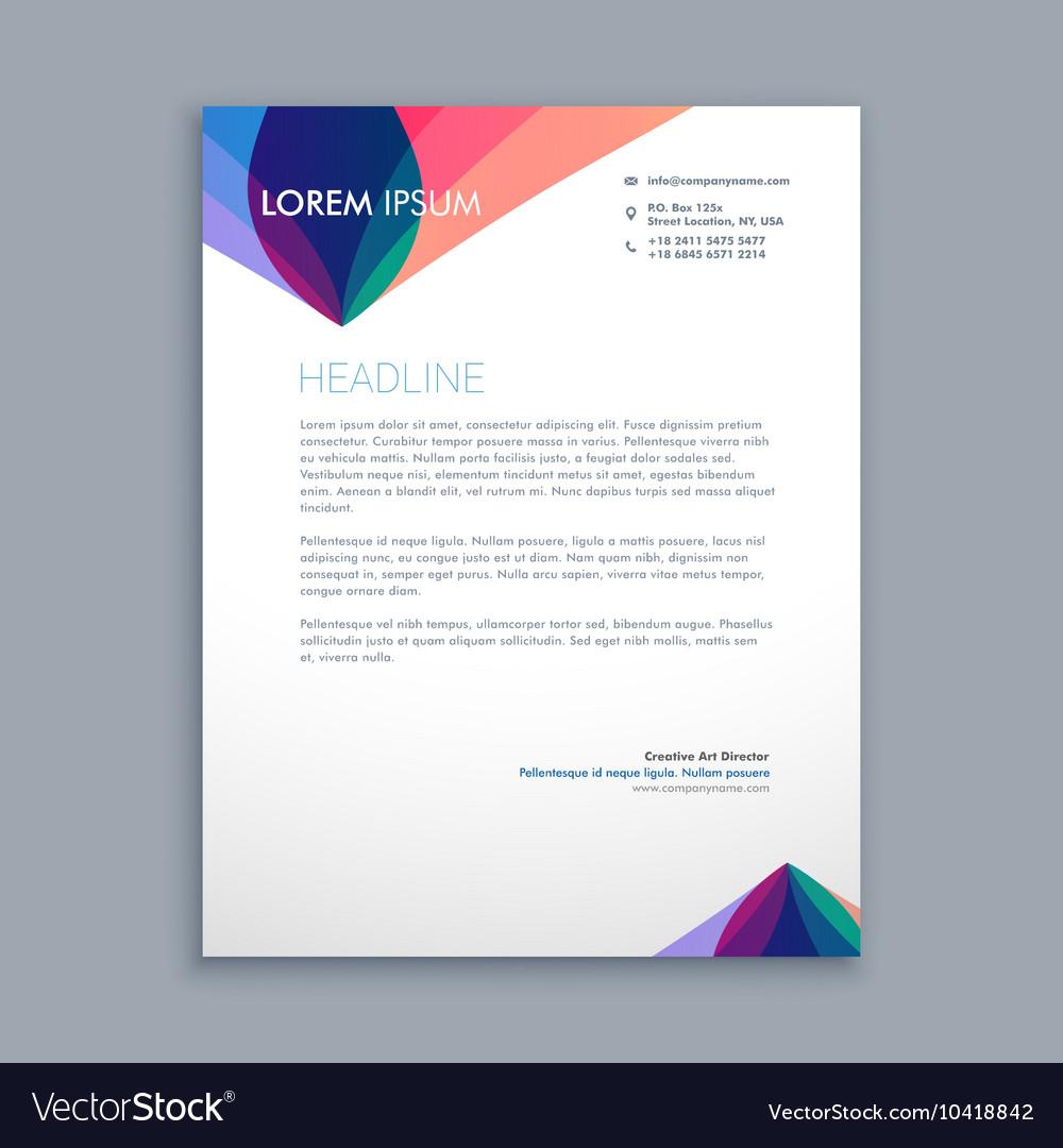 creative business letterhead royalty