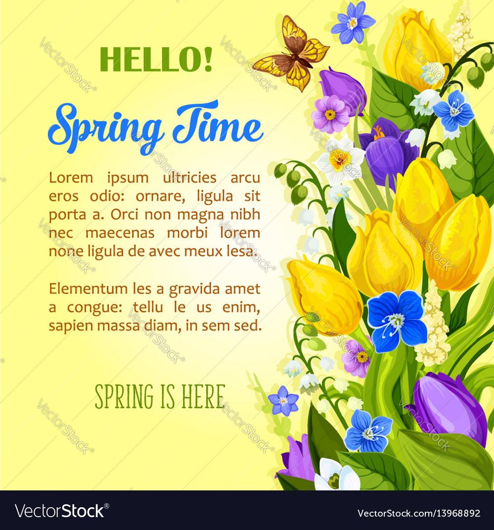 spring flowers blooming design