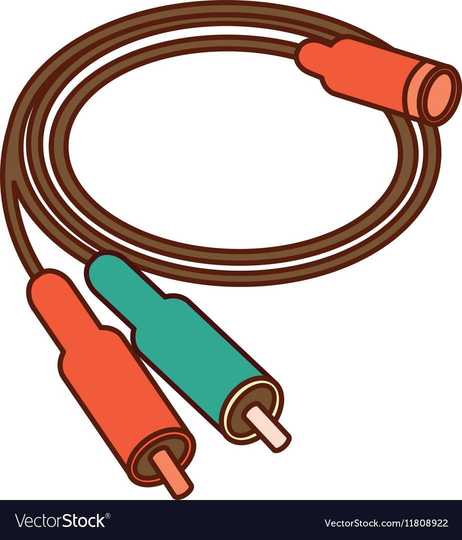medium resolution of audio plug connector icon vector image