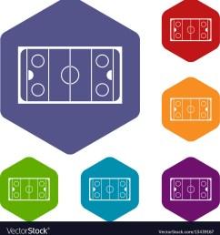 ice hockey rink icons set vector image [ 976 x 1080 Pixel ]