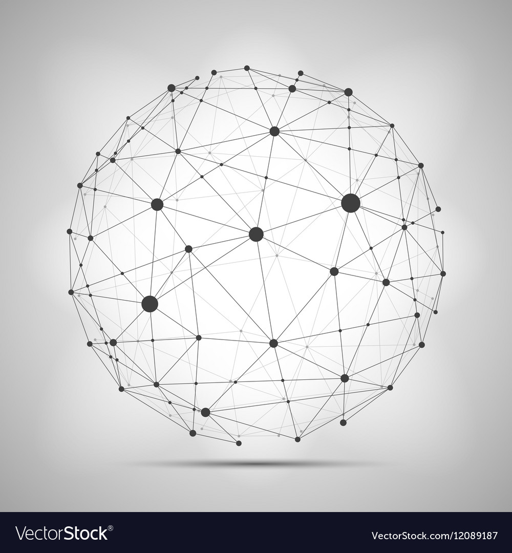 wireframe connecting earth sphere