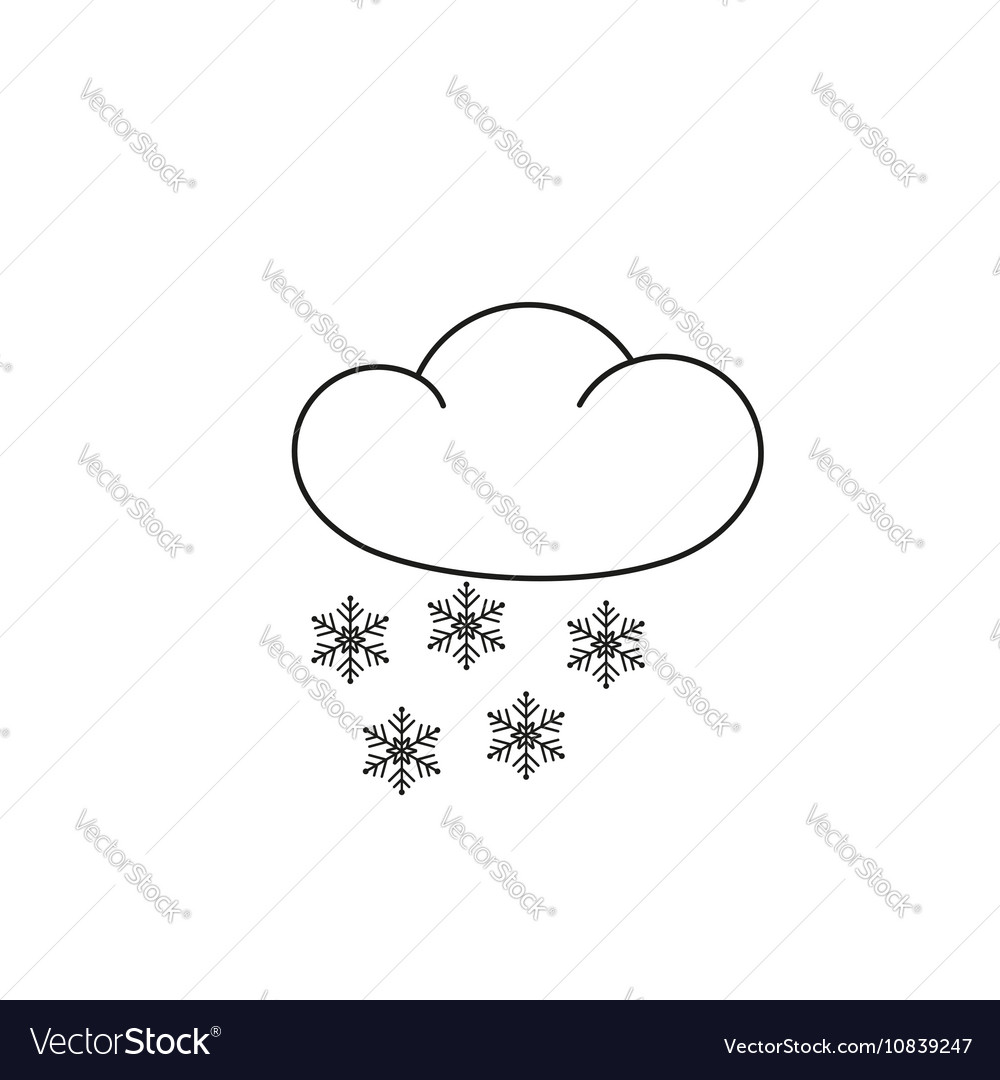 hight resolution of weather icon clipart snow flakes vector image