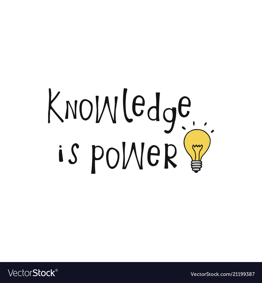 knowledge is power lettering