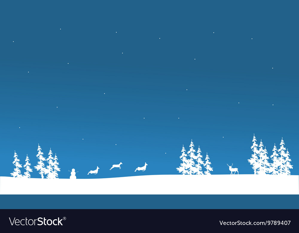 christmas scenery of silhouette