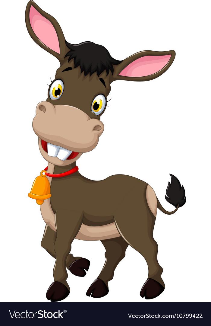 Funny Donkey Pictures : funny, donkey, pictures, Funny, Donkey, Cartoon, Posing, Royalty, Vector, Image