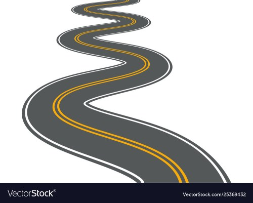 small resolution of winding road highway path long street vector image