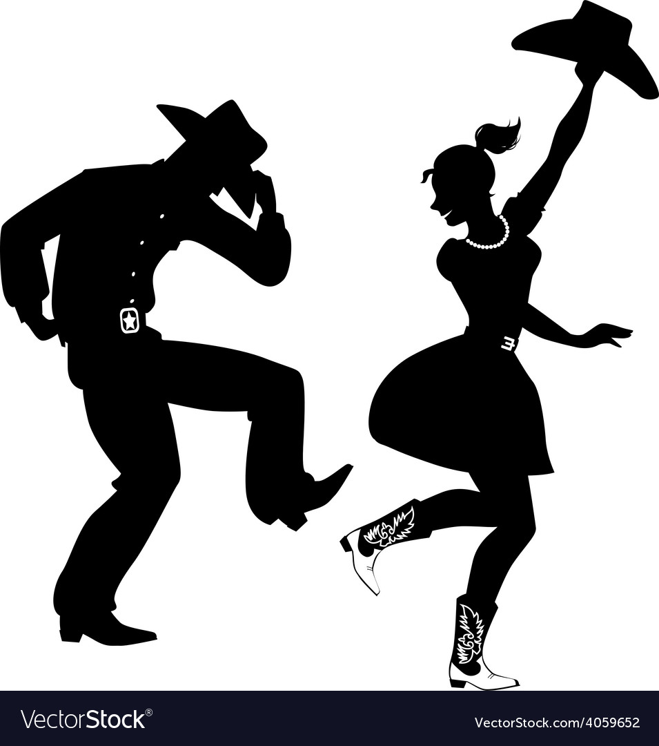 silhouette of country western