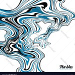 Black White And Blue Marble Style Abstract Vector Image