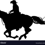 Riding A Horse Silhouette Royalty Free Vector Image