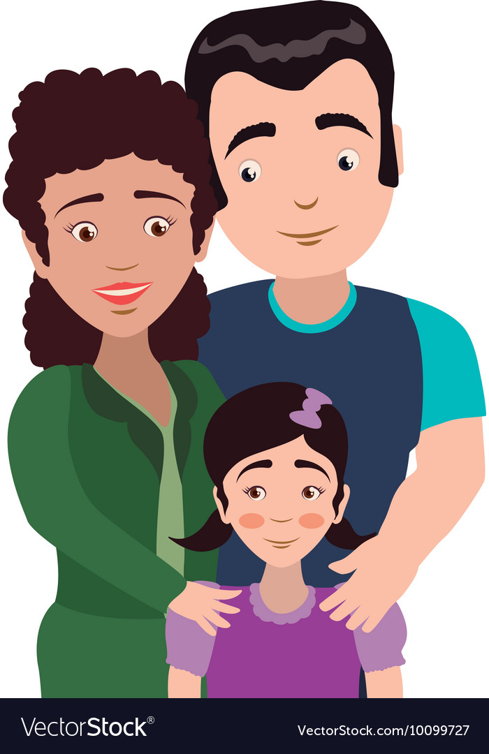 Mother And Father Cartoon : mother, father, cartoon, Family, Couple, Parents, Mothers, Father, Vector, Image