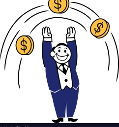 business clipart jump coin vector image [ 922 x 1080 Pixel ]