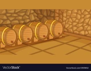 cellar horizontal beer banner cartoon vector