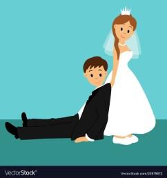 bride and groom cartoon vector image [ 1000 x 1080 Pixel ]
