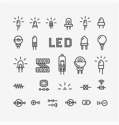 Electrical and electronic icons Royalty Free Vector Image